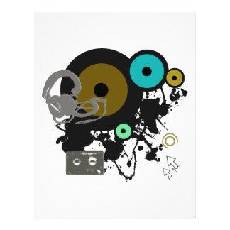 """¡Diseño gráfico de la música! Folleto 8.5"""" X 11"""""""