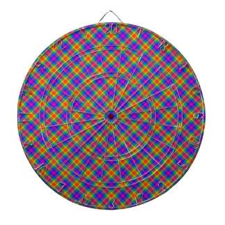 Diseño gráfico de la tela escocesa alegre del vera tablero dardos