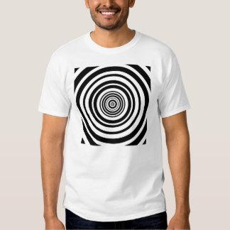 Diseño gráfico de los círculos concéntricos playera