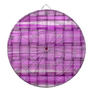 Diseño gráfico de mimbre 2 de las rayas púrpuras r tablero de dardos