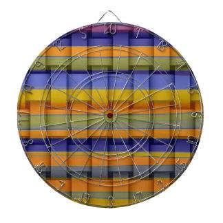 Diseño gráfico de mimbre de las rayas coloridas re tabla dardos