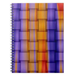 diseño gráfico de pintura del arte colorido spiral notebooks