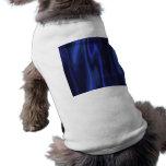 Diseño gráfico de tela de satén del azul de cobalt camisas de perritos