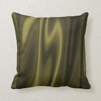 Diseño gráfico de tela del verde verde oliva almohada