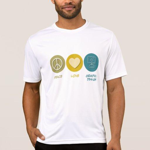 Diseño gráfico del amor de la paz camisetas