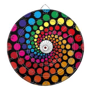 Diseño gráfico del ángel colorido de los círculos tabla dardos