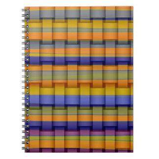 Diseño gráfico del arte colorido de las rayas libreta espiral