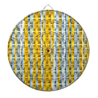 Diseño gráfico del arte de mimbre amarillo retro d tablero de dardos