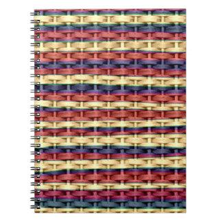 Diseño gráfico del arte de mimbre colorido de las  libretas