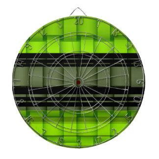 Diseño gráfico del arte de mimbre negro y verde de tabla dardos