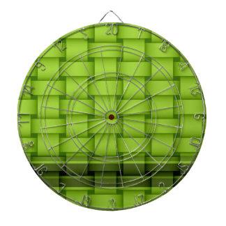 Diseño gráfico del arte de mimbre verde de las ray tabla dardos