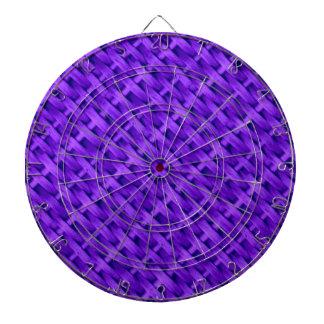 Diseño gráfico del arte de mimbre violeta tablero dardos