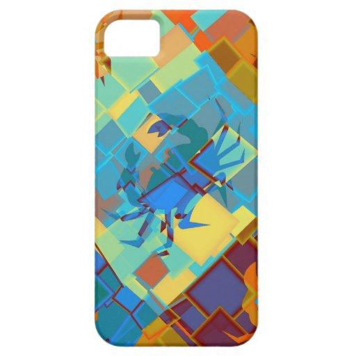 Diseño gráfico del arte del cangrejo iPhone 5 carcasas