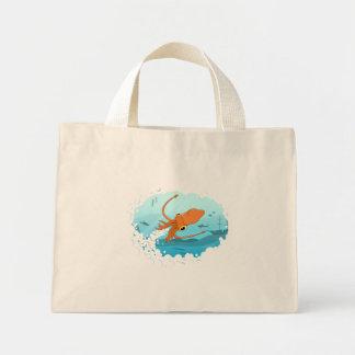 diseño gráfico del calamar bolsas de mano