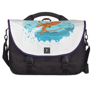 diseño gráfico del calamar bolsas para portatil