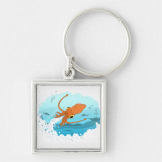 diseño gráfico del calamar llavero personalizado