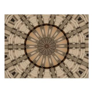 Diseño gráfico del caleidoscopio romano del arte a postal