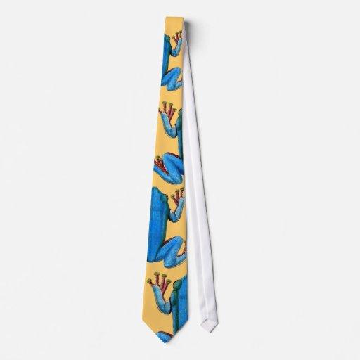 Diseño gráfico del extracto azul grande de las ran corbatas personalizadas