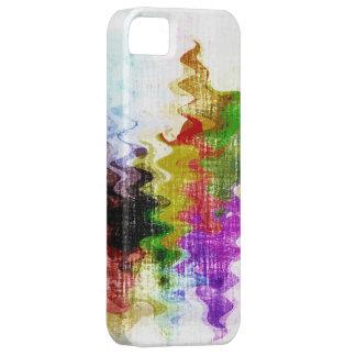 Diseño gráfico del grunge del fondo colorido de la funda para iPhone 5 barely there