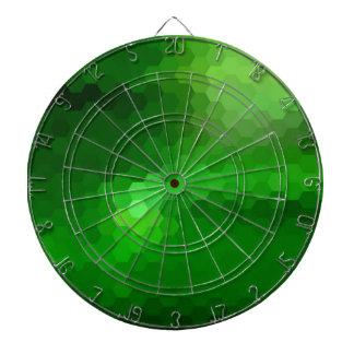 Diseño gráfico del hexágono verde tabla dardos
