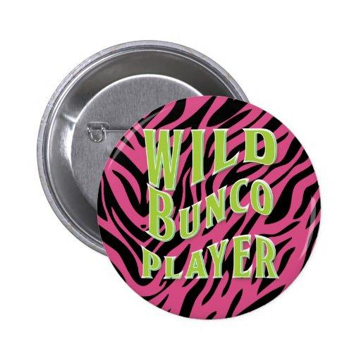 Diseño gráfico del jugador salvaje de Bunco Pins