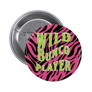 Diseño gráfico del jugador salvaje de Bunco Pin Redondo De 2 Pulgadas
