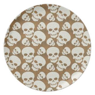 Diseño gráfico del modelo del cráneo platos
