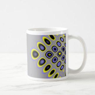 Diseño gráfico del modelo extraño abstracto de la  taza de café