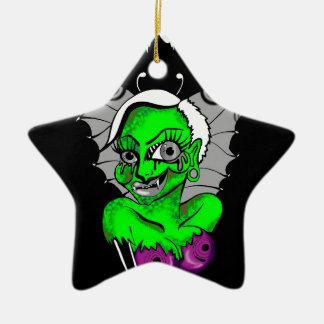 diseño gráfico del vampiro adorno navideño de cerámica en forma de estrella