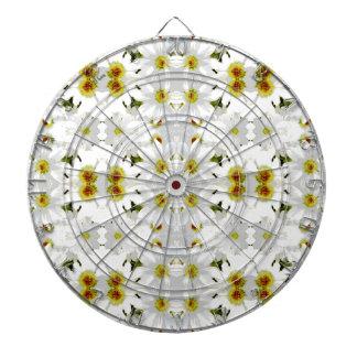 Diseño gráfico floral del modelo tabla dardos