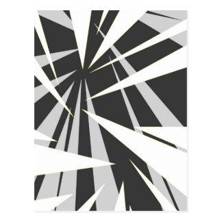Diseño gráfico geométrico monótono tarjeta postal