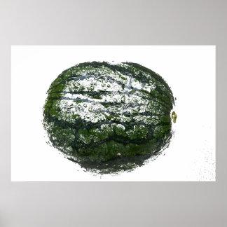 diseño gráfico grunged sandía de la fruta impresiones