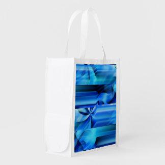 Diseño gráfico inconsútil - negro azul I Bolsas Para La Compra