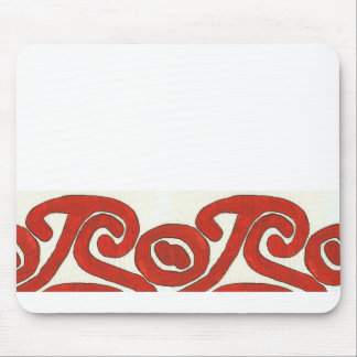 Diseño gráfico nativo en rojo alfombrillas de ratones