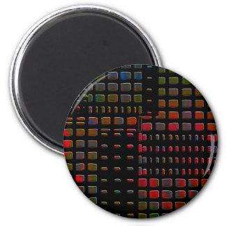 Diseño gráfico oscuro imán redondo 5 cm