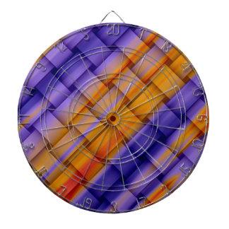 Diseño gráfico retro de mimbre colorido tabla dardos