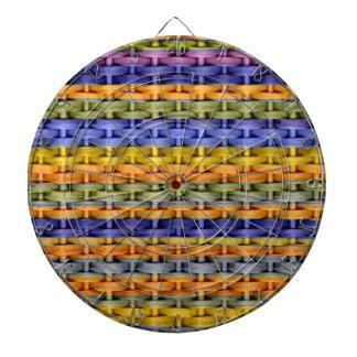 Diseño gráfico retro de mimbre de las rayas colori tablero de dardos