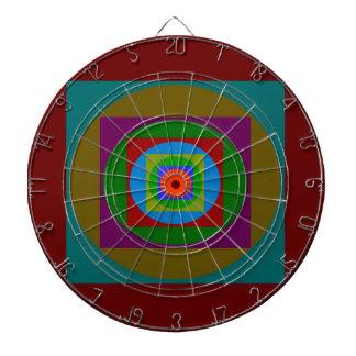 Diseño gráfico simple tablero de dardos