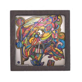 diseño gráfico vibrante del art déco salvaje cajas de recuerdo de calidad
