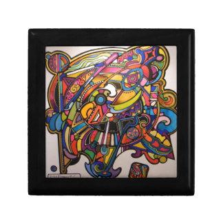 diseño gráfico vibrante del art déco salvaje caja de joyas