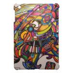 diseño gráfico vibrante del art déco salvaje iPad mini cobertura