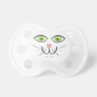 Diseño grande de los ojos verdes de la cara del CA Chupetes
