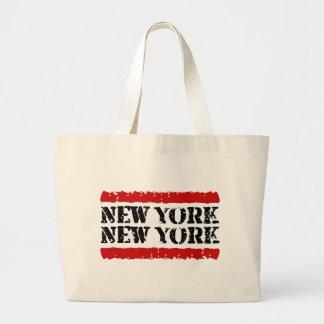 Diseño grande de Nueva York - de la ciudad de Nuev Bolsa Tela Grande