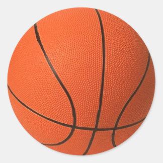 Diseño grande del baloncesto pegatina redonda