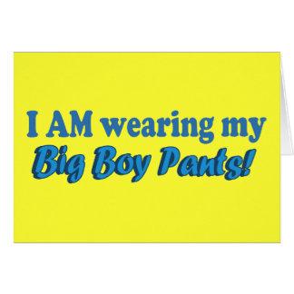 Diseño grande del texto de los pantalones del much tarjeta de felicitación