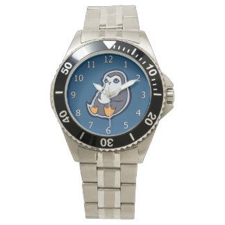 Diseño grande dulce de relajación del dibujo de la relojes de pulsera
