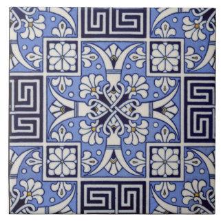 Diseño griego de Mintons del vintage de la teja c1
