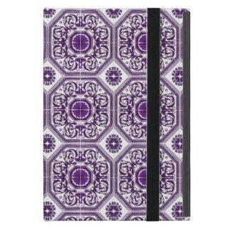 Diseño griego púrpura de las hojas de la hoja del iPad mini protectores
