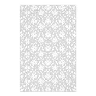 Diseño gris blanco y en colores pastel del damasco tarjeton