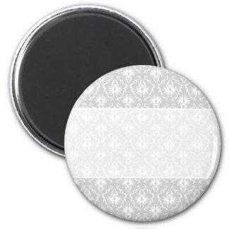 Diseño gris blanco y en colores pastel del damasco iman para frigorífico